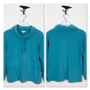 Pure Jill Deep Turquoise Soft-Touch Sweatshirt